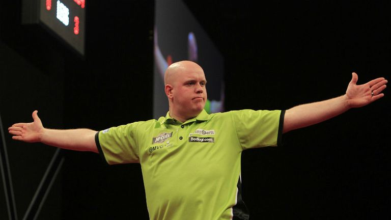 Michael van Gerwen: Dominated against Simon Whitlock in the final match of week nine