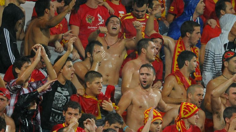 Montenegro supporters: Urged to behave during World Cup qualifier with England