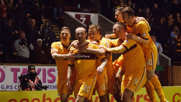 Bob McHugh: Motherwell striker has been rewarded with new contract