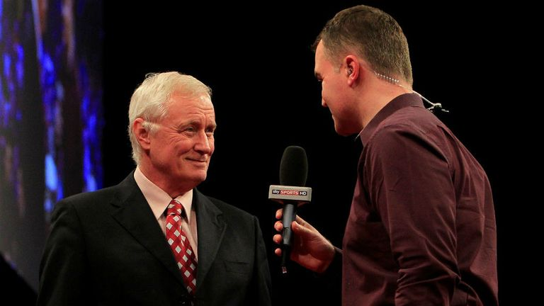Barry Hearn talking to Dave Clark on Sky Sports