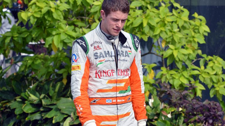 Paul di Resta: Caught out by rain in qualifying