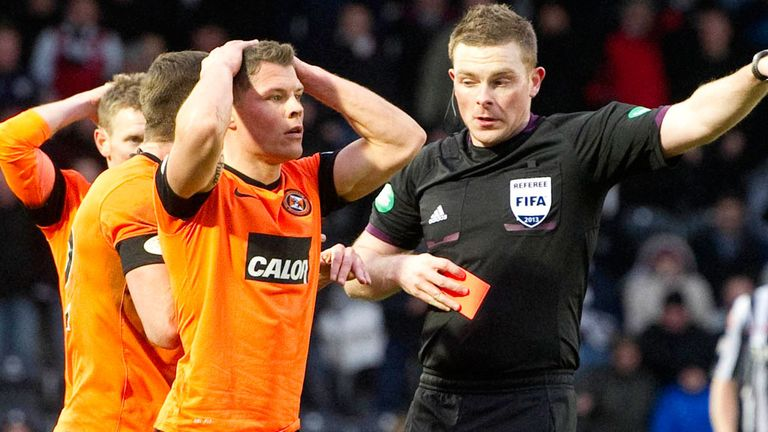 John Rankin: Sent off against St Mirren