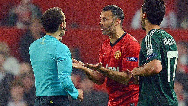 Ryan Giggs: Was left stunned by the decision to send off Nani.