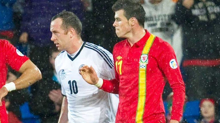 Charlie Adam (left) and Gareth Bale during the Cardiff clash in October