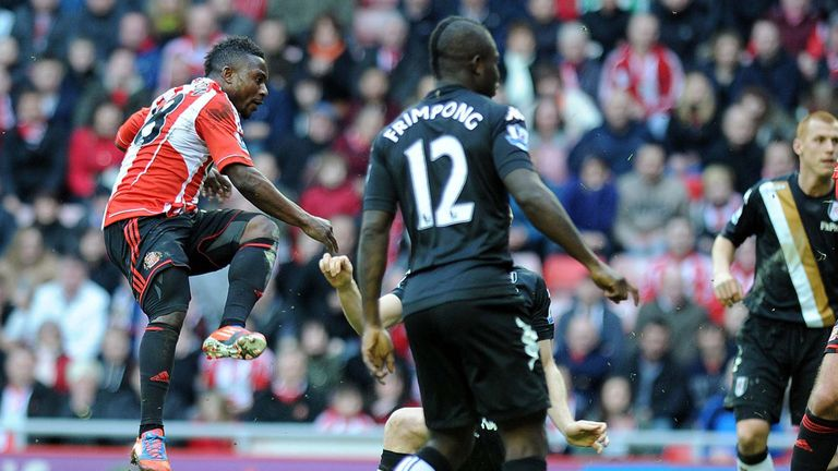 Stephane Sessegnon fires home the equaliser for Sunderland against Fulham