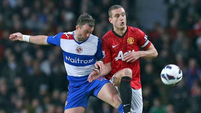 Nemanja Vidic: Manchester United defender in action against Reading