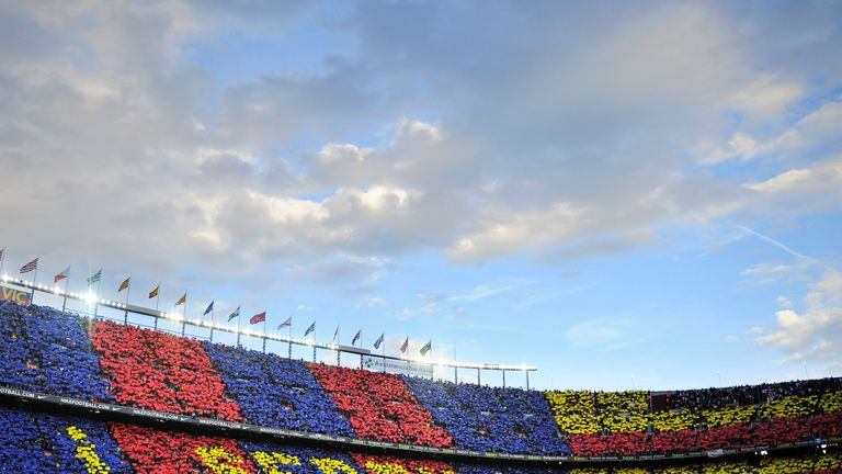 Barcelona's Nou Camp stadium