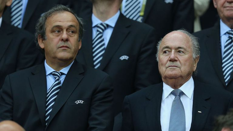 Michel Platini & Sepp Blatter: At odds over the timing of a winter World Cup in Qatar