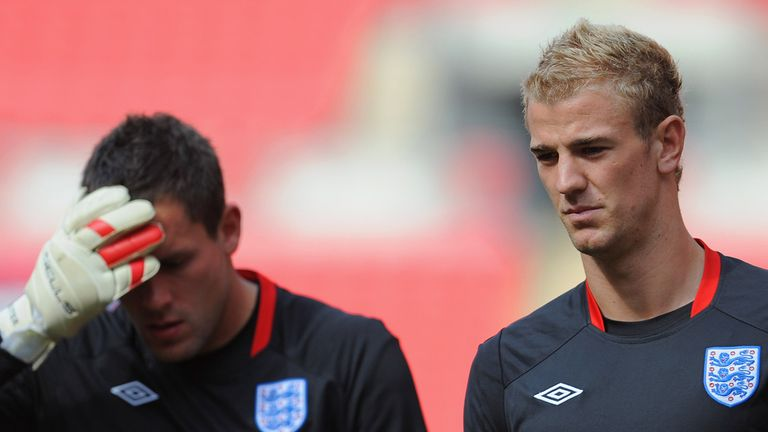 Ben Foster and Joe Hart: Competing for England gloves