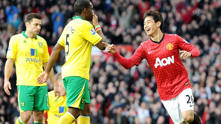 Shinji Kagawa: Was at the peak of his powers in scoring a hat-trick in Manchester United's 4-0 defeat of Norwich