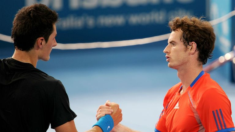 Andy Murray (r): Could face Bernard Tomic in his opening match in Miami