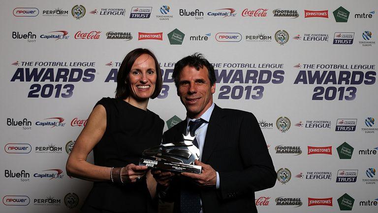 Gianfranco Zola: Collects award on Vydra's behalf