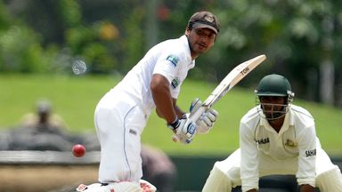 Kumar Sangakkara: hit 16 fours and three sixes during almost four hours at the crease