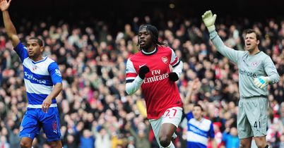 Gervinho: Netted against Reading