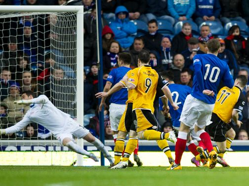 Ally Love&#39;s goal for Annan stuns Ibrox