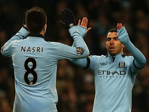 Carlos Tevez: Netted hat-trick against Barnsley