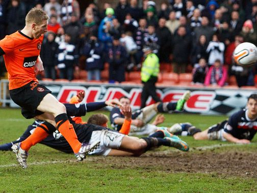 Michael Gardyne's late strike earned Dundee United a point