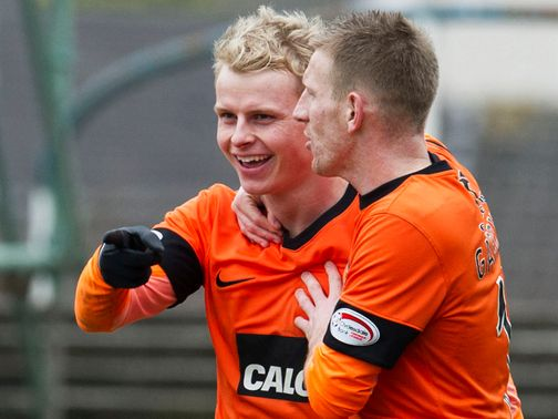 Gary Mackay-Steven celebrates his goal