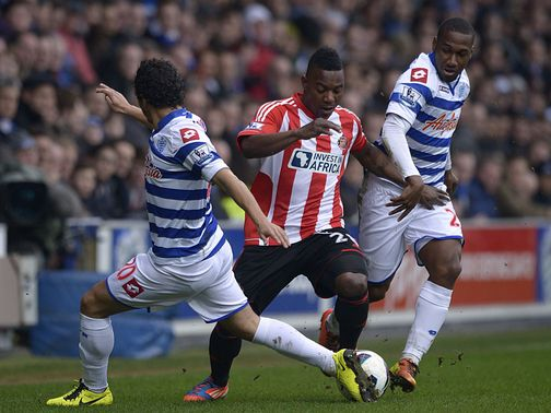 Stephane Sessegnon tries to find a way through