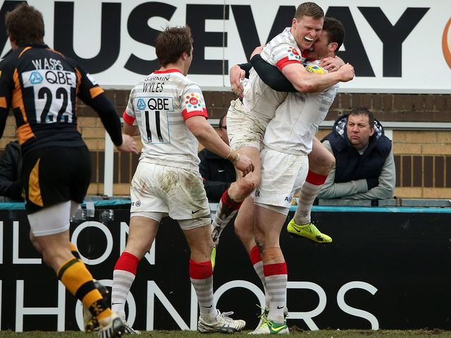 Chris Ashton celebrates his crucial try