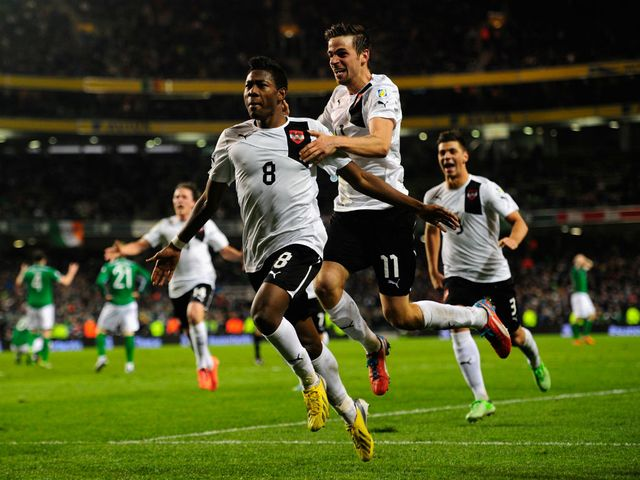David Alaba: On target for Austria