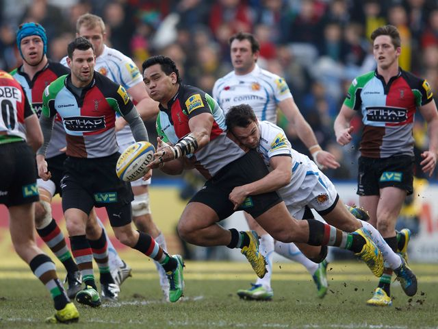 Maurie Fa'asavalu in action for Harlequins