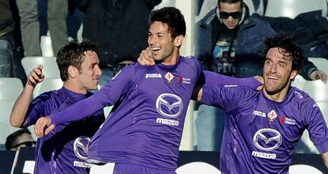 Celebrations for Fiorentina