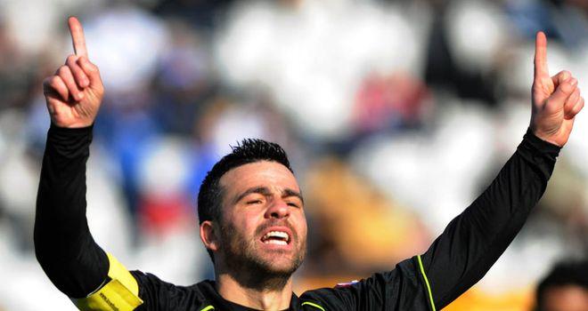 Antonio Di Natale celebrates his goal