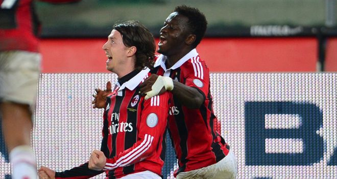 Riccardo Montolivo celebrates his goal