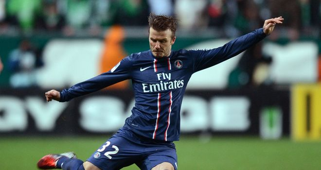 David Beckham: First start in European football since 2010
