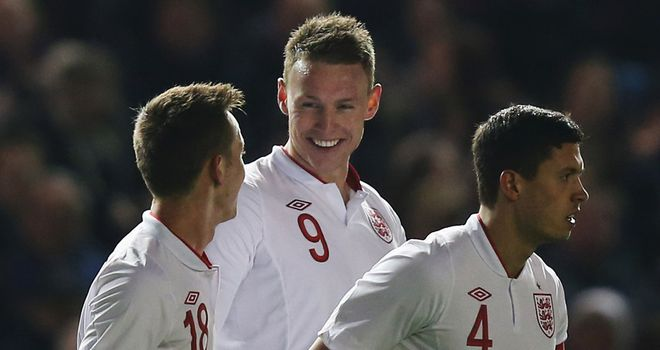 Connor Wickham: Celebrates goal for England U21s against Austria
