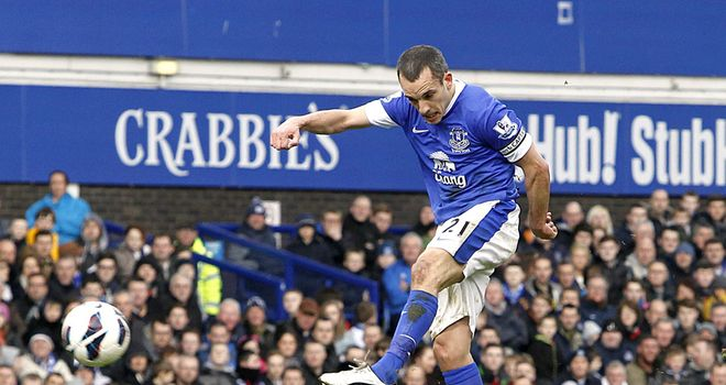 Leon Osman: Stunning goal put Everton ahead against Manchester City