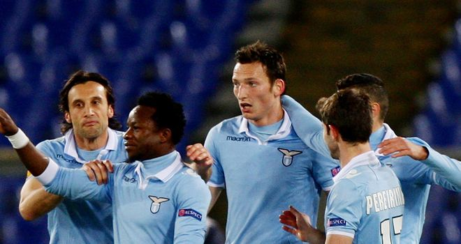 Libor Kozak: The Czech striker bagged a hat-trick in Lazio win