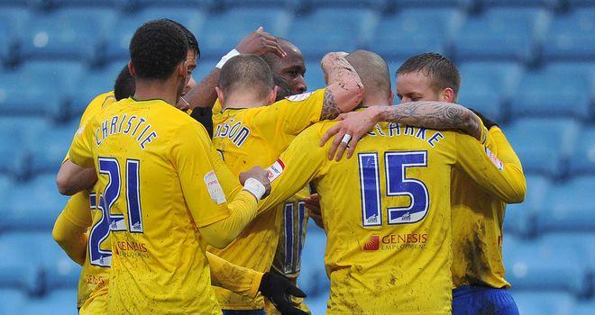 Leon Clarke: Celebrates his winner for Coventry