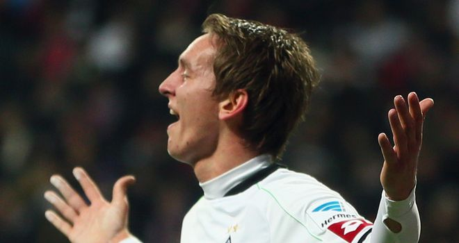 Luuk de Jong celebrates scoring the only goal