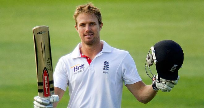 Nick Compton: Celebrates his maiden Test ton