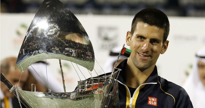 Novak Djokovic: Extended his winning streak to 18 matches after victory in Dubai