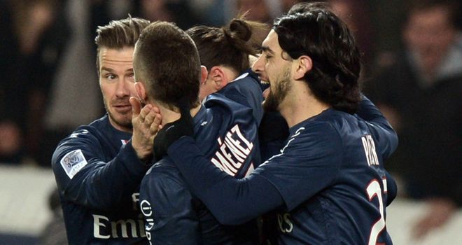 PSG celebrate their late winner