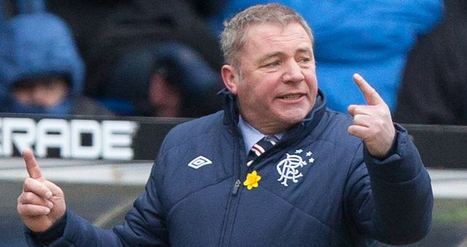 "Ally McCoist: Rangers performance ""miles short"" of what he expects"