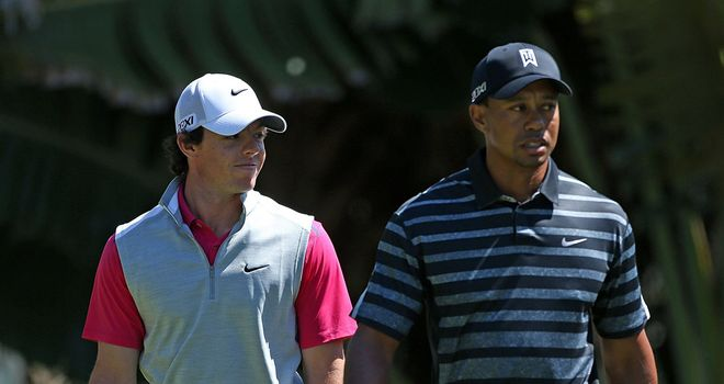 Rory McIlroy and Tiger Woods: Contrasting first round displays