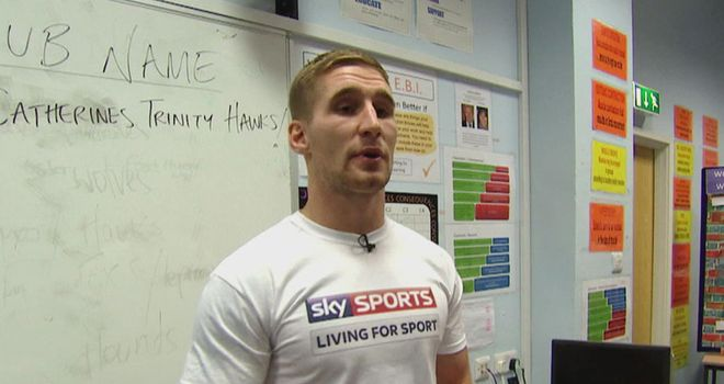 Sam Tomkins: making the switch from stadium to school