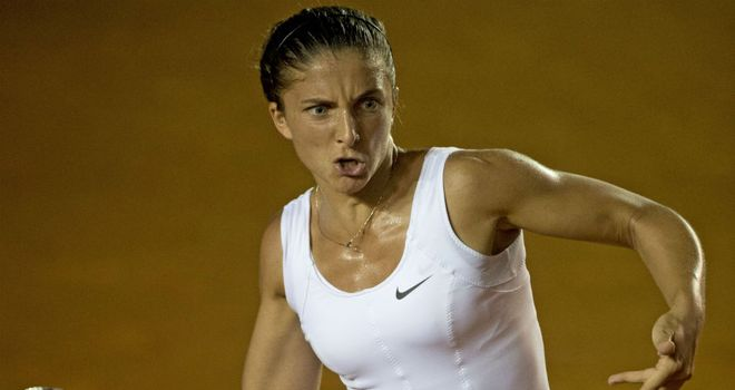 Sara Errani: Only hit one second serve in the whole match