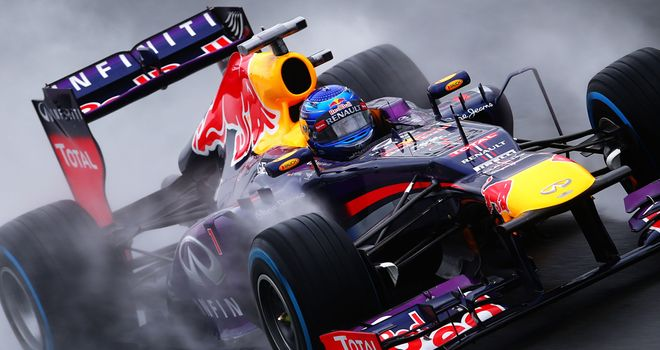 Sebastian Vettel: seventh fastest in wet Q1 session