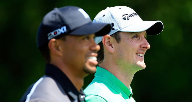 Tiger Woods: Outshone by Justin Rose in the opening round