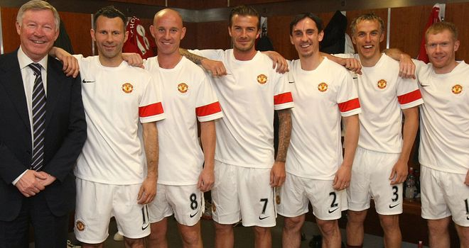 Alex Ferguson with the 'Class of 92'