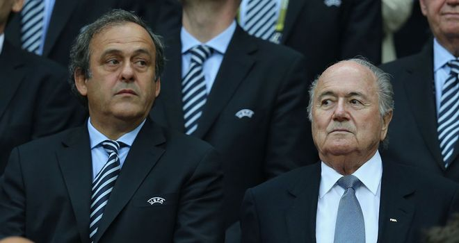 Michel Platini and Sepp Blatter: Potential opponents in 2015 FIFA election