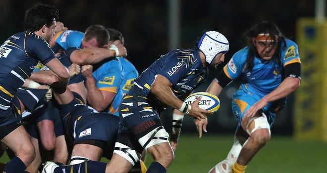 Blair Cowan: Worcester forward breaks clear against Wasps