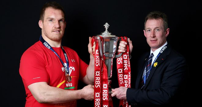Howley and Gethin Jenkins get their hands on the prize
