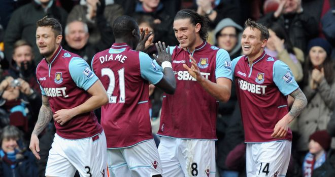 Andy Carroll: The England striker scored twice and gave an excellent all-round performance.