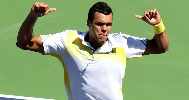 Jo-Wilfried Tsonga: toiled to a straight-sets victory over Victor Troicki